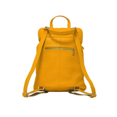 Ricky, Leather Rucksack , Yellow Image