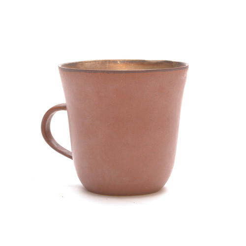Red Clay and Silver Glaze Mug 009 Image