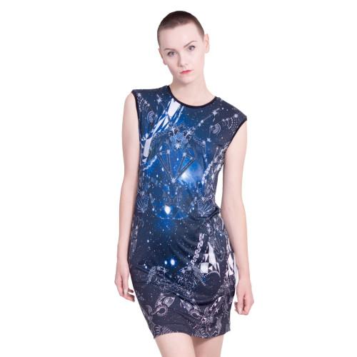 'Celestial' print dress Image