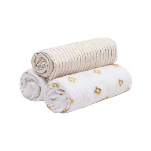 ADEN & ANAIS - 3 PACK GOLD SWADDLE Image