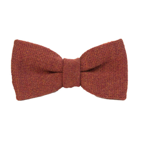 REVERSIBLE WOOL KNITTED BOW TIE Image