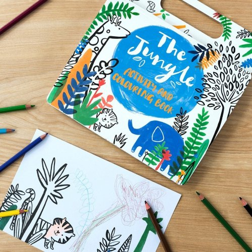 Jungle Colouring book Image