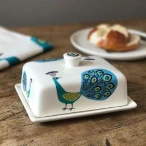 Hannah Turner Peacock Butter Dish Image