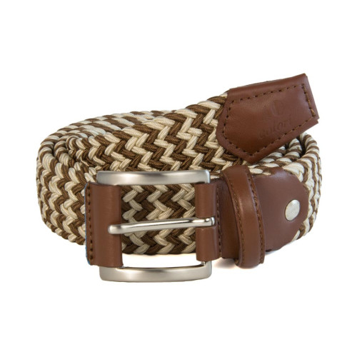 BAR STRIPED ELASTICATED WOVEN BELT Image