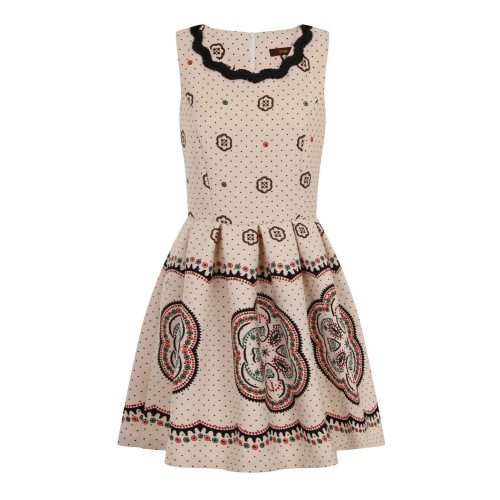 CARNIVAL DOTS PRINT DRESS - PINK/IVORY Image