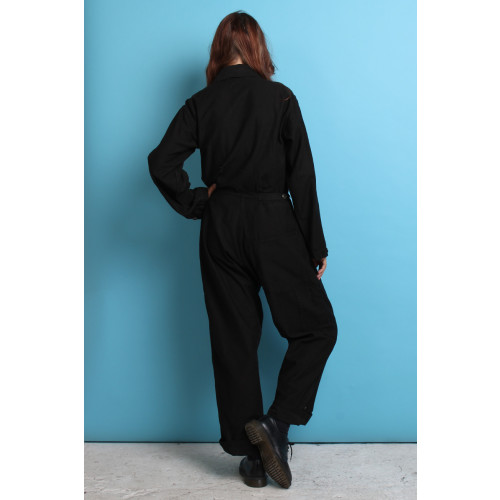 Black Button Up Coveralls Image