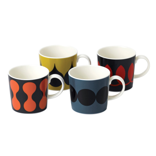 Set of four Geometric mugs Image
