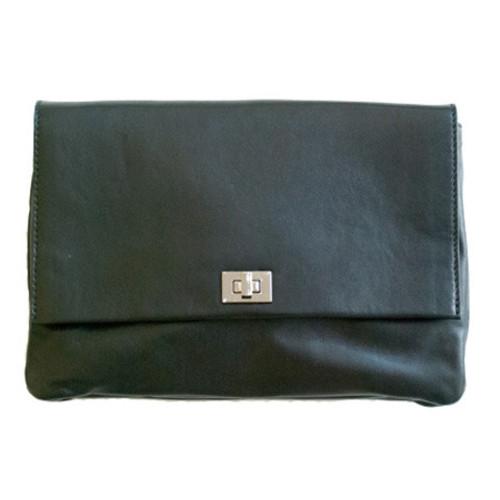 Black Leather Bag Image