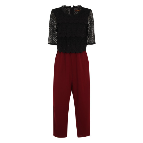 CLASSIC CASUAL COMBO SUIT - BURGUNDY Image