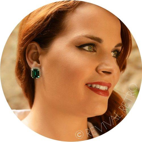 Elizabeth Taylor Style Emerald Cut Earrings Image