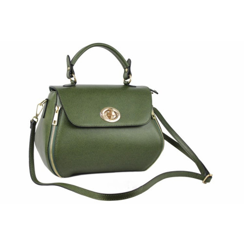 Carolina , Leather Handbag , Made in Italy , Pink Image