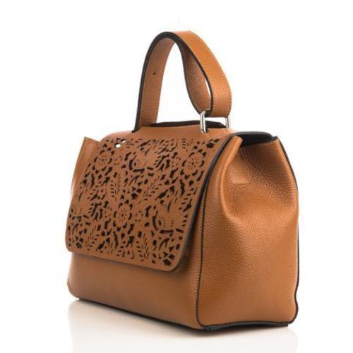 Adele , Laser Cut Leather Handbag , Grey Image