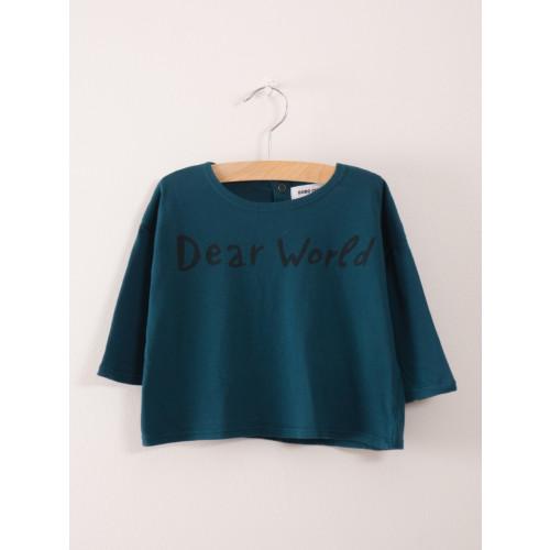 Bobo Choses Baby Dear World T-Shirt in Legion Green Image