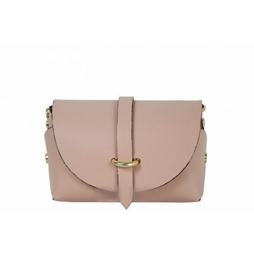 Manuela , Leather Cross Body Bag , Made in Italy , Pink Image