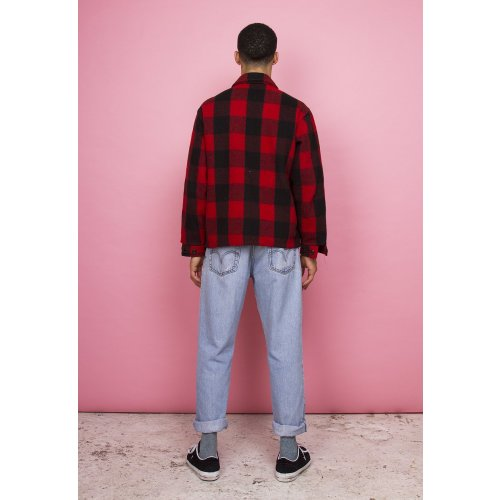 RED & BLACK PLAID LUMBERJACK COAT Image