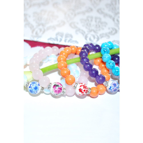 JapanStone Ceramic Bracelet / Orange Image