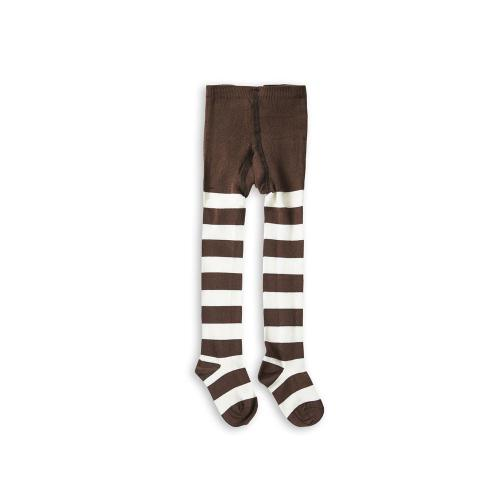 Brown and White stripe tights Image
