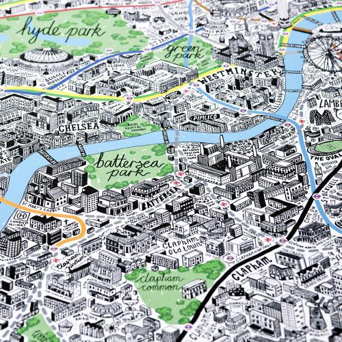 A2 London Map Image