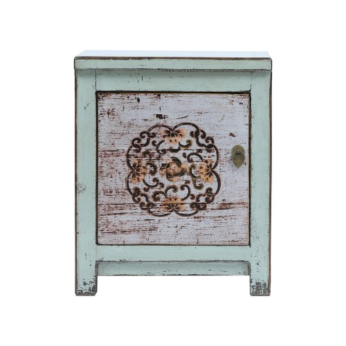 Chinese Bedside Cabinet Dongbei Style light blue Image