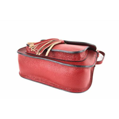 Carolina , Leather Cross Body Bag with Tassle Detail , Tan Image
