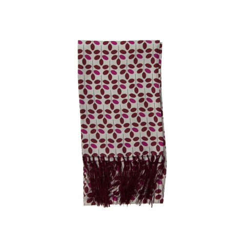 BRANCH HAND-FRINGED SILK SCARF Image