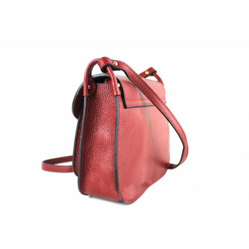 Carolina , Leather Cross Body Bag with Tassle detail , Red Image
