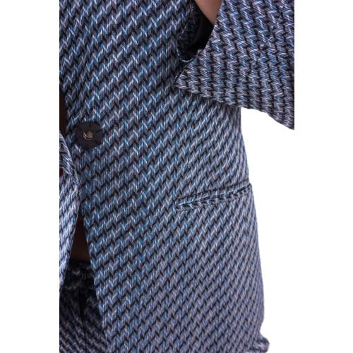 Cupro Jacquard back-lapel Jacket Image