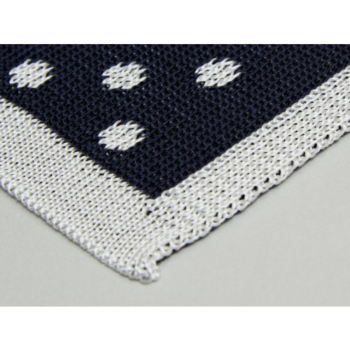 REVERSIBLE DOTTED SILK KNITTED POCKET SQUARE Image