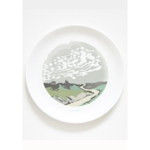 Alto Cumulus Clouds Dinner Plate Image