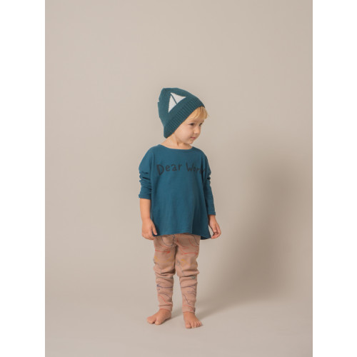 Bobo Choses Alma Beanie Hat with Sail Boat all over Image