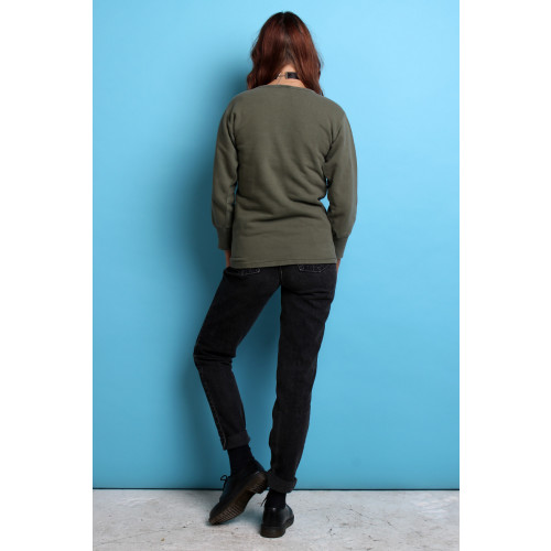 70's French Green Sweatshirt S/M Image