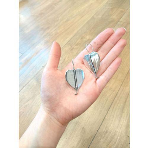 Flat Heart Earrings Image