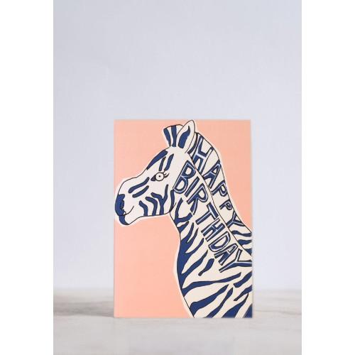 Birthday Zebra Greeting Card Image