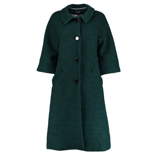 Forest Green Boucle Coat by Lowie Image