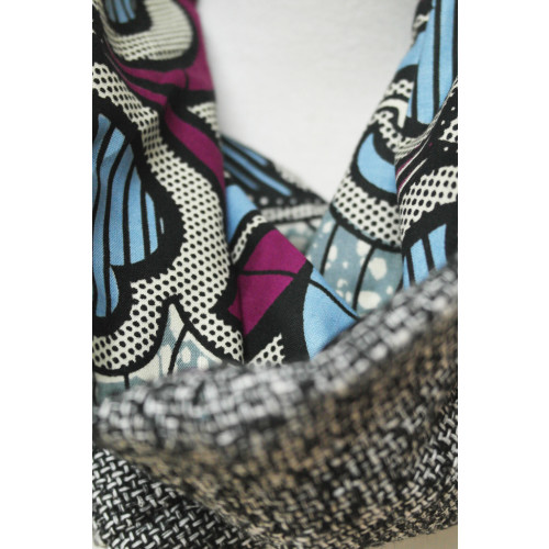 Unisex Reversible Snood with African Fabric Image