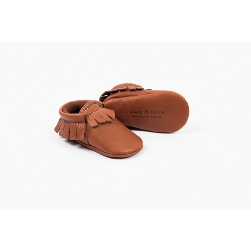 Amy and Ivor Moccasins Burnt Sienna Image