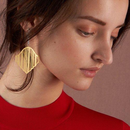 Gold Hadda Earrings Image