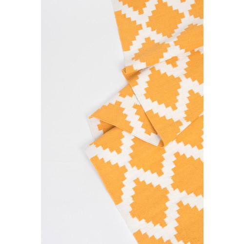 Siesta Cotton Rug: Yellow & White Image