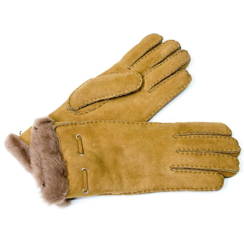 Sheepskin Gloves / Khaki Image