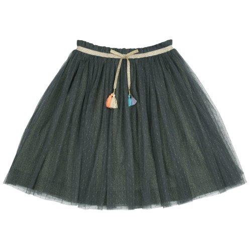 Outside The Lines Glitter Tuile Skirt Jade Image