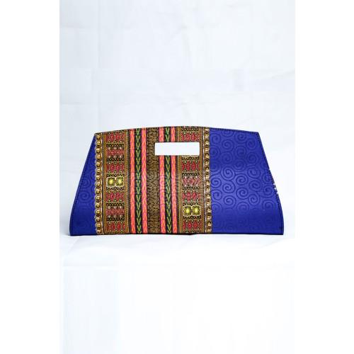 Blue Dashiki Clutch Image