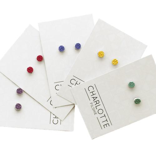 Confetti Blue Stud Earrings Image