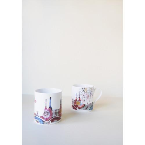 Battersea Embroidery Mug & Plate Set Image