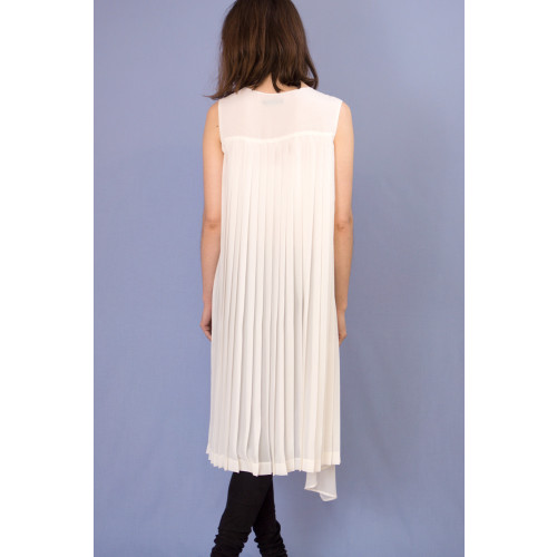 asymmetric drape pleated tunic Image