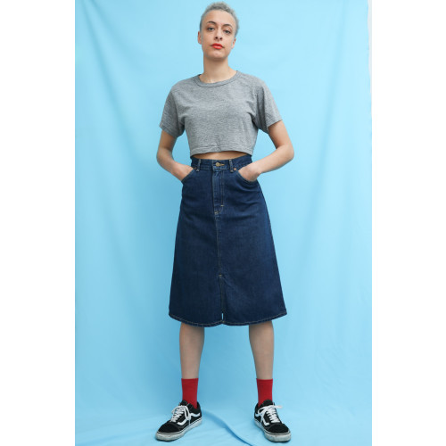 70s Vintage Lee Denim High Waist Skirt Image
