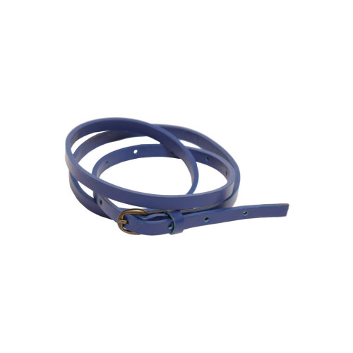 Blue Skinny Leather Belt by Lowie Image