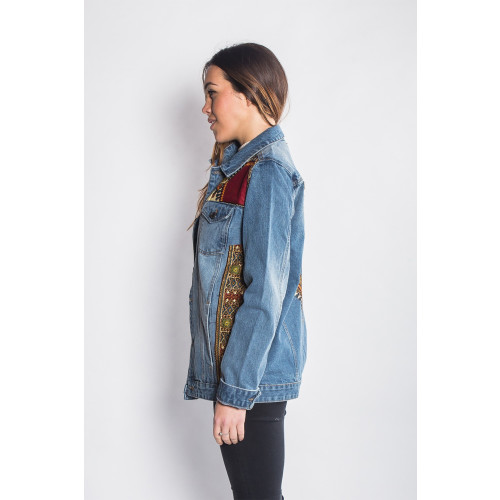 Mandinka Dashiki - Denim Jacket - Women's Image