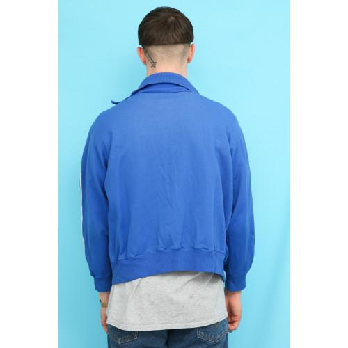 70s Vintage Adidas Cobalt Blue Track Top Jacket Image