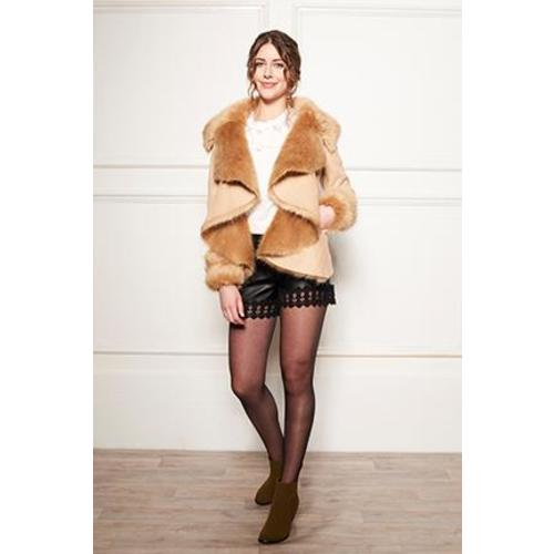 AW - WATERFALL FURRY JACKET Image