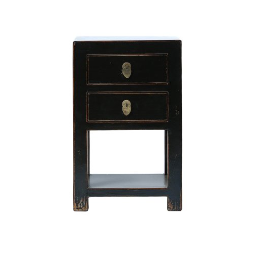 Black Chinese Bedside Table Image